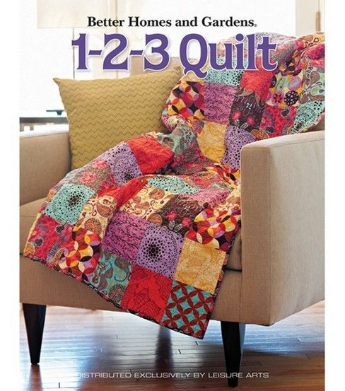 BHG 1-2-3 Quilt will teach you everything you need to know from choosing fabric for your project and proper rotary cutting techniques to tips for sewing exact seams and how to finish your quilt with f