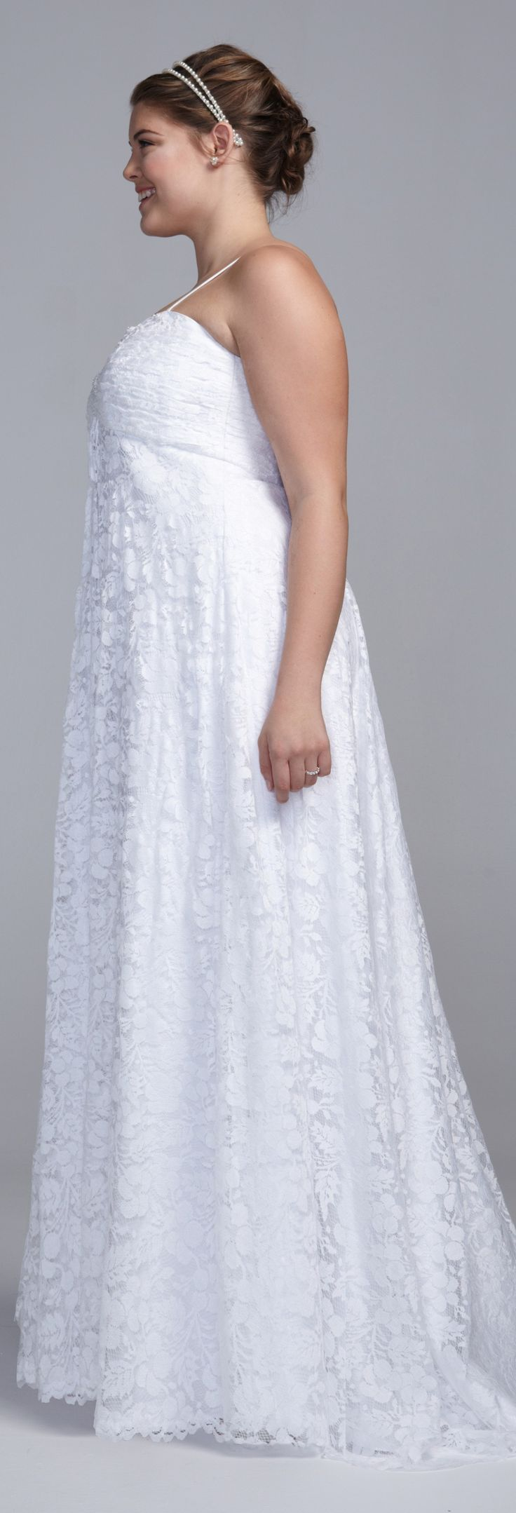 Dear apple-shaped women, check out your wedding dress from the side before buying it... And read this article... http://www.boomerinas.com/2014/10/08/wedding-dresses-for-your-body-type-apple-shapes-plus-size-tummies/