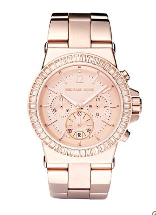 Michael Kohrs pink rose gold watch - found on Sometimes Fancy