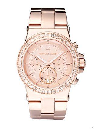 Michael Kohrs pink rose gold watch - found on Sometimes Fancy