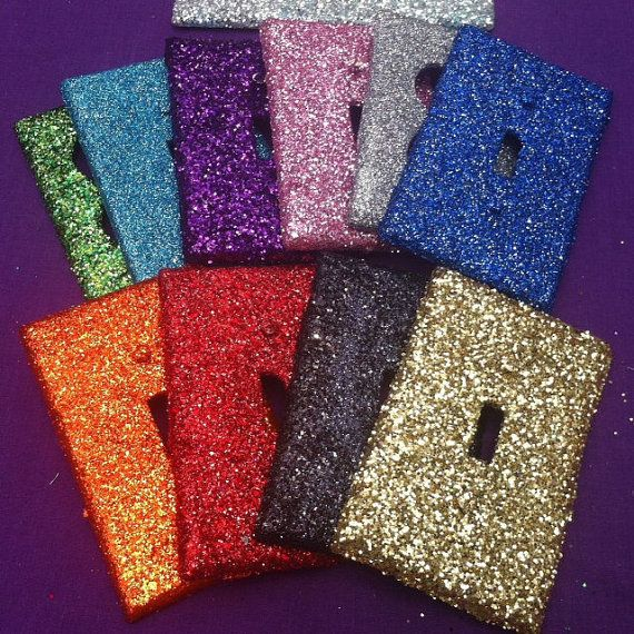 Glitter Light Switch / Outlet Cover ((LOVE this for the girls' rooms!!!))