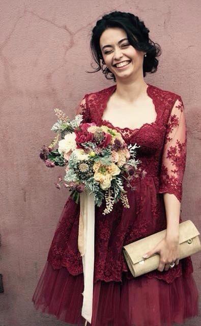 rochie cununie marsala