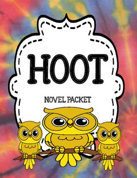 Hoot by Carl Hiaasen Novel Study Unit Comprehension and Vocabulary Novel Unit