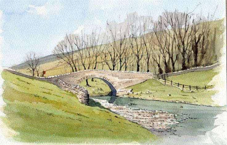 Yockenthwaite Bridge - sketch by John Edwards                                                                                                                                                                                 Mehr