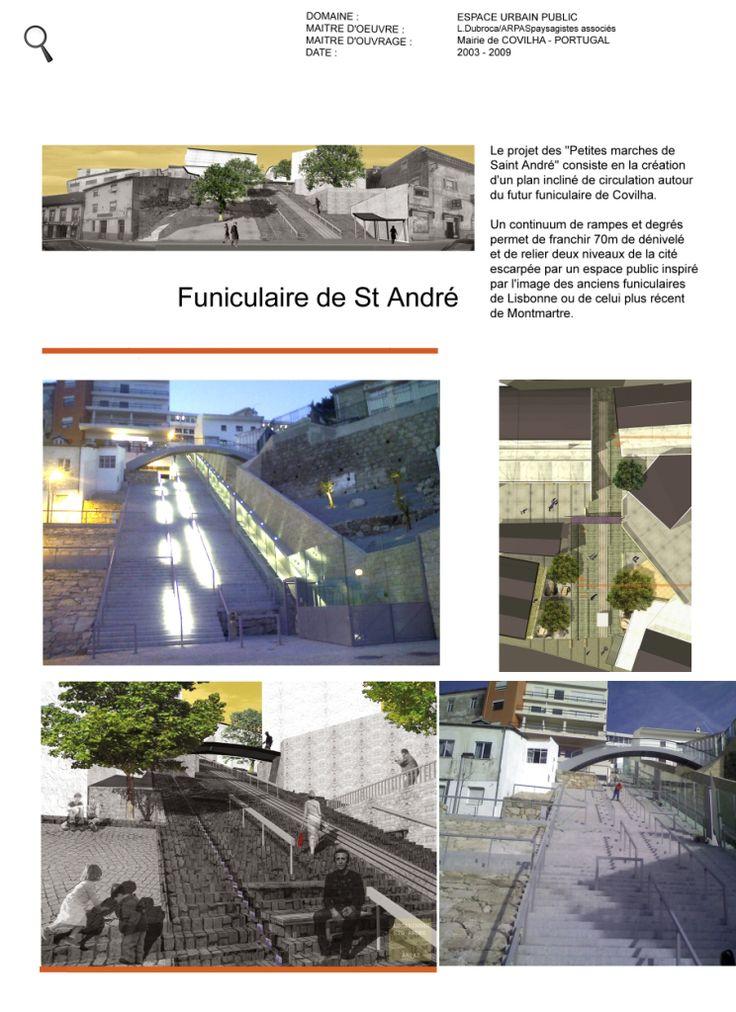 Création d'un plan incliné de circulation.Funiculaire de Covilha.Portugal.©Arpas.►                                                | ©Lulu Jardine #Paysagiste #Marseille  |  #Entretien,  #Conseil,  #Aménagement et #Création   | #Jardins  #terrasses  #balcons et #potagers | ► @ http://www.lulu-jardine.com  |