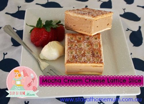 Mocha Cream Cheese Lattice Cheesecake Slice | Stay at Home Mum