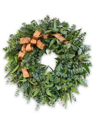 Eucalyptus Leaf Wreath by Balsam HillBalsamic Hills, Crisps Fall, Fragrant Eucalyptus, Fresh Holiday, Eucalyptus Grove, Wreaths Doors Decor, Fresh Wreaths, Fall Eucalyptus, Eucalyptus Leaf
