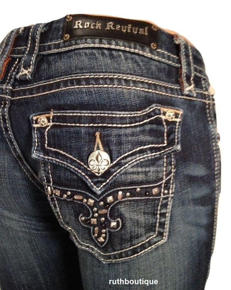 Rock Revival Size 27 fits size 28 Camila Easy Boot Jeans RE8232E2L NWT Ret. $168 #RockRevival #EASYBOOT
