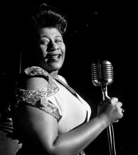 "past-photography: "" ""Ella Fitzgerald performing in Chciago, Illinois, 1948 © Wayne Miller "" """