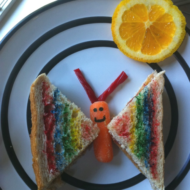 Butterfly sandwhich! | FOOD: funny food | Pinterest | Butterflies and ...
