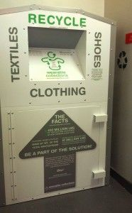 A Wearable Collections Donation Bin Recycle Clothes Recycling Recycled Projects