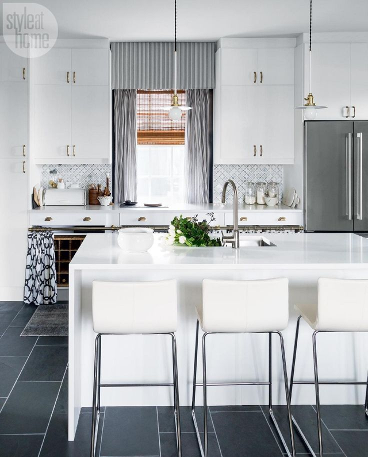 Kitchen Curtains With White Cabinets: 42 Best Countertops Images On Pinterest