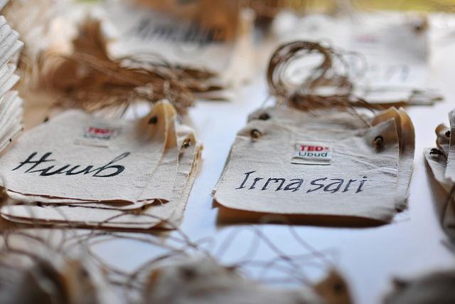 TEDxUbud 2012 Handmade Badges by TEDxUbud, via Flickr
