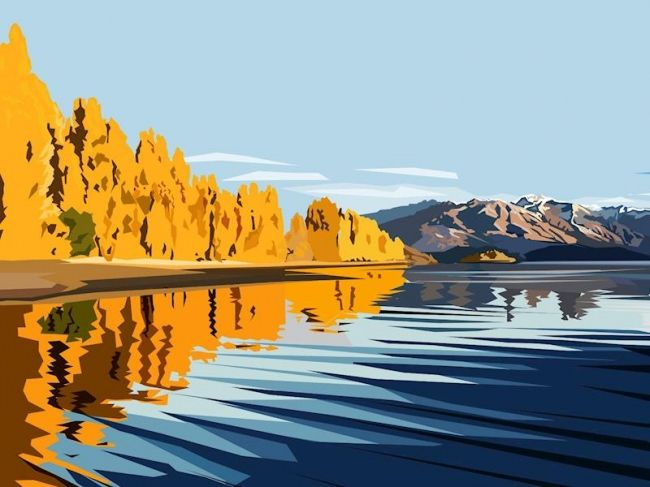 Enter to win: Wanaka Gold - 11x14 inch signed print | http://www.dango.co.nz/pinterestRedirect.php?u=cNZF2jx0Du94581