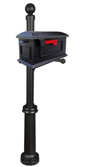 Our Traditional Curbside Mailbox has universal appeal with this smooth geometric styling accented with a simple decorative braid. Elegant estate styling with industrial durability is the hallmark of the Fresno Mailbox Post.