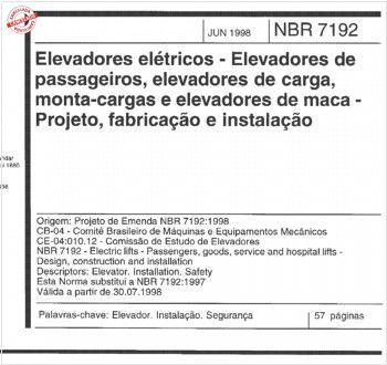 NBR7192 de 06/1998