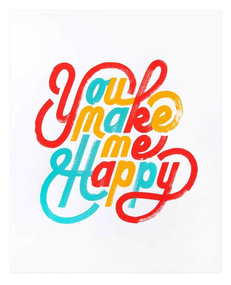 Happy LettersLoving this monoweight lettering by Erik Marinovich.It' so light a fun you could just eat it!It's available as a screenprint at the friends of type shop.