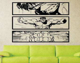 Marvel Comics Avengers Comics Kunst Wandaufkleber von HallofHeroes