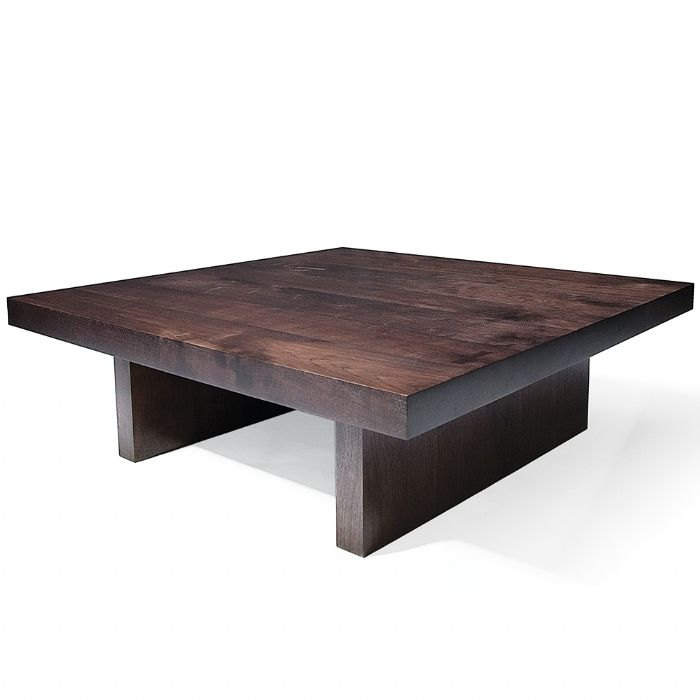 """GULLIVER  Size Shown: Approx. 50""""L x 50""""W  Chunky Walnut Top with Wood Legs (Grey Finish)   Custom Finishes/ Sizes Available"""