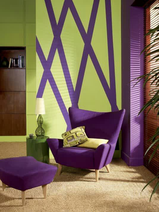 In this design color is being shown, using a split complementary color scheme.