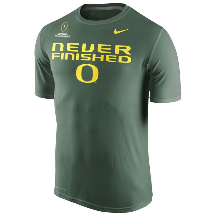 "Oregon Ducks Nike 2015 College Football Playoff National Championship Bound ""Never Finished"" T-Shirt - Green - $21.84"