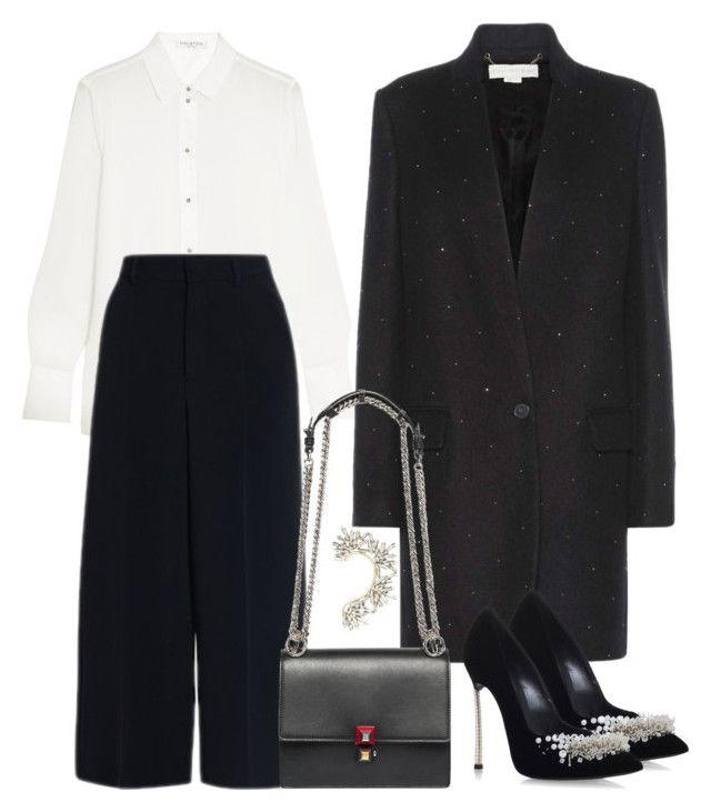 Untitled #2436 by moxieremon on Polyvore featuring polyvore fashion style Halston Heritage STELLA McCARTNEY RED Valentino Casadei Fendi BCBGMAXAZRIA clothing
