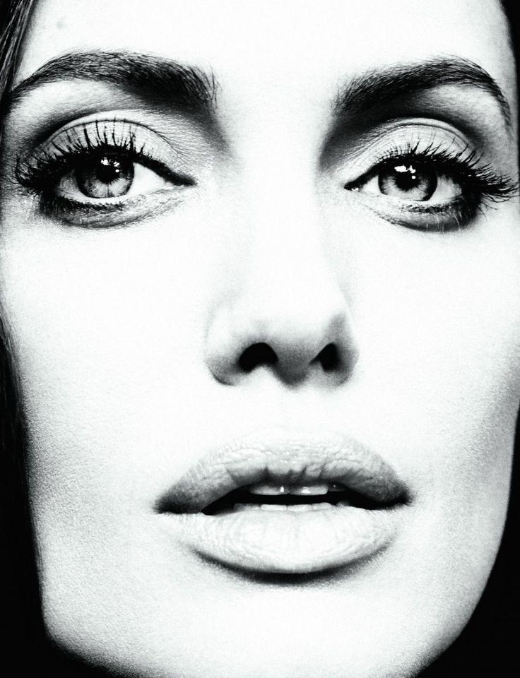 Angelina Jolie Portrait BW