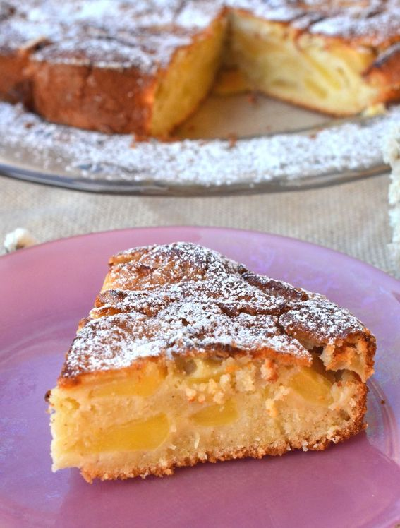 Torta rustica di mele profumata alla cannella