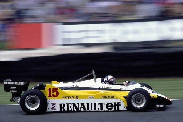 Alain Prost, Renault RE30B Brands Hatch, 1982. © Schlegelmilch