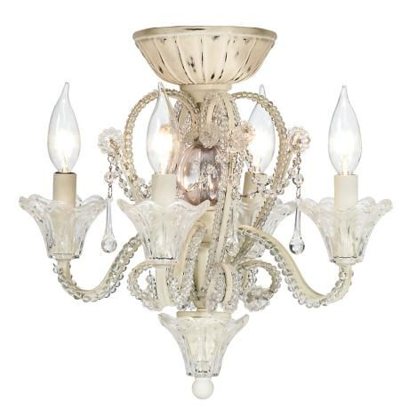 Pull Chain Crystal Bead Candelabra Ceiling Fan Light Kit for the girls bedrooms