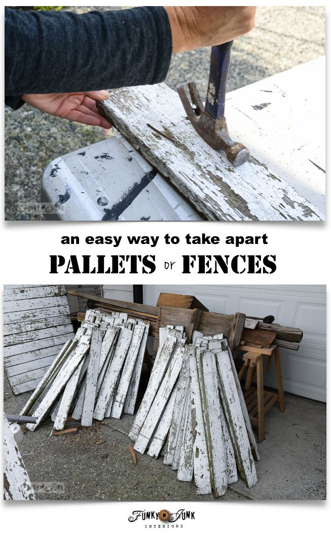 Ever bring a pallet home, but not know how to rip it apart? Here's an easy way to take apart pallets or fences without fancy tools! One secret ingredient!