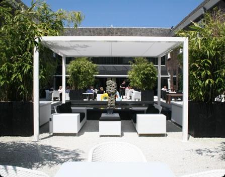 Moderne losstaande terras overkapping!