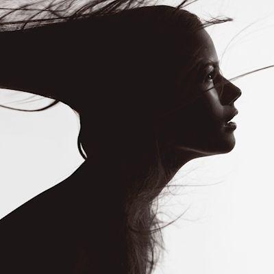 David Bicho - Hairy profile. Portrait of a girl in motion.