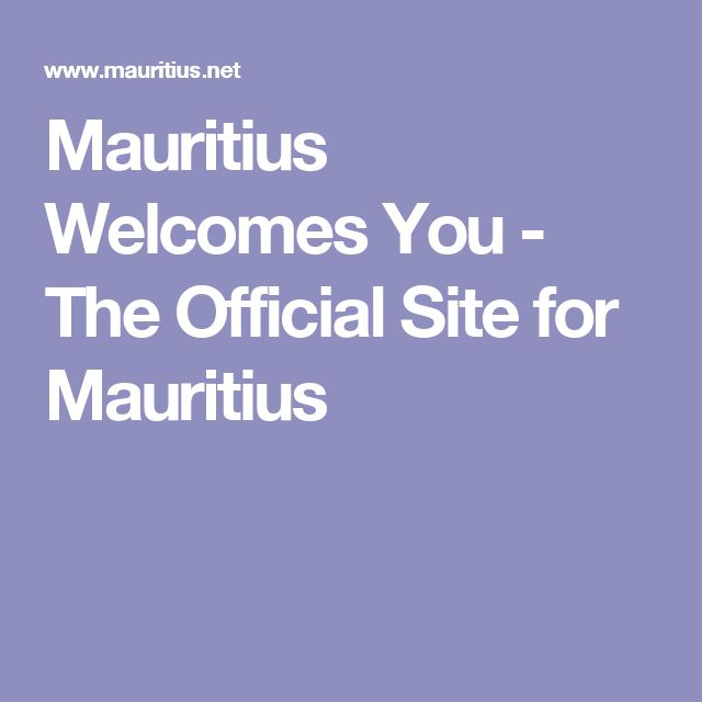 Mauritius Welcomes You - The Official Site for Mauritius