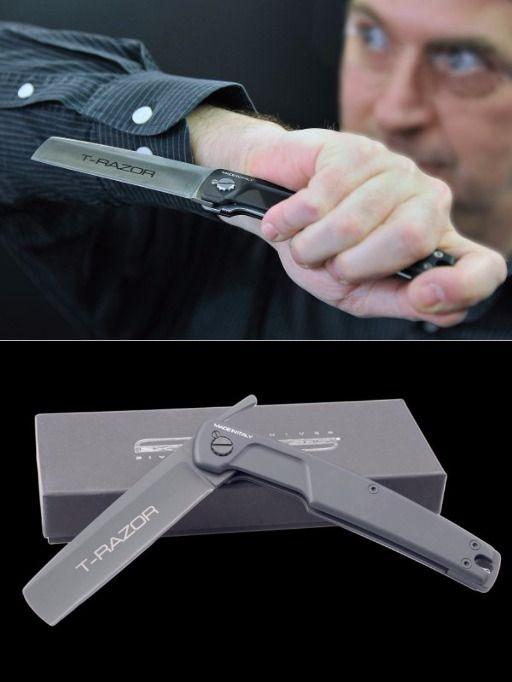 Extrema Ratio EX1000138 T Razor Black Folding Knife Blade