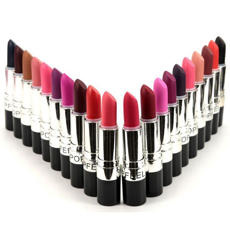 20 Colores Maquillaje Mate Impermeable de Terciopelo Lápiz Labial brillo de Labios de Larga Duración No Se Desvanecen