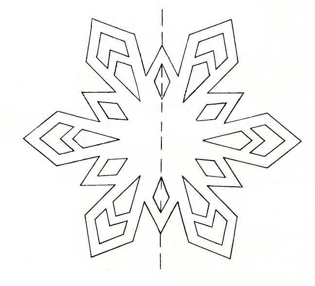 новогодние картинки снежинок на окно вырезать из бумаги