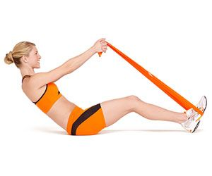 Resistance band ab workouts