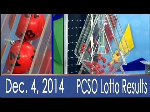 December 4, 2014 PCSO Lotto Results Today (6/49, 6/42, Swertres, 6D & EZ2) - http://LIFEWAYSVILLAGE.COM/lottery-lotto/december-4-2014-pcso-lotto-results-today-649-642-swertres-6d-ez2/