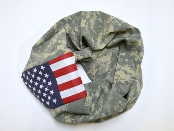 Digital ACU Military Camo Infinity Scarf American by JLeeJewels, $35.00