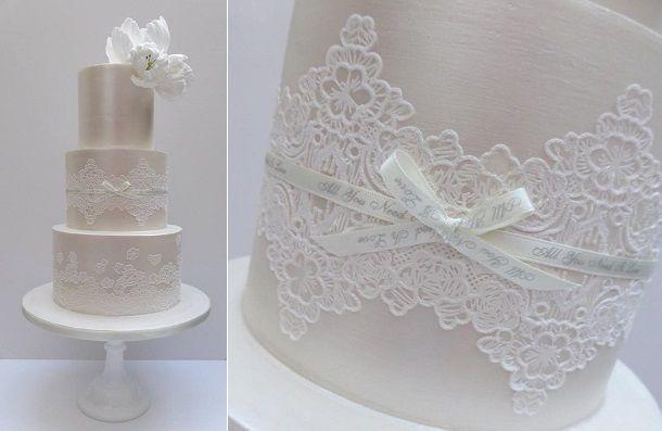 Кружева створки свадебный торт с Scrumdiddly Великобритании