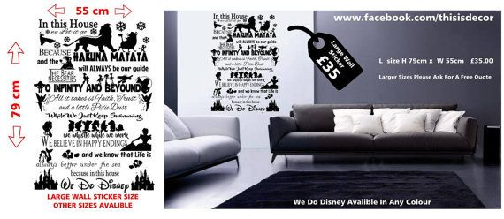 Disney muur sticker disney muur sticker bevroren door ThisIsDecor