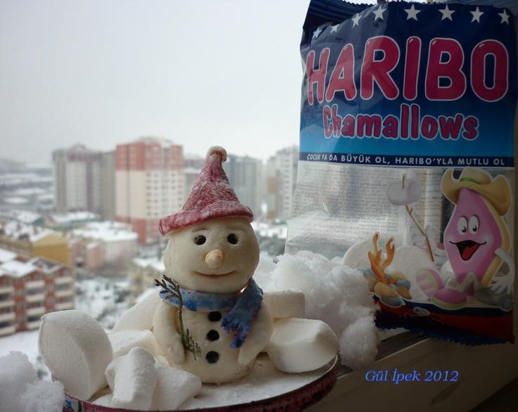 #Marshmallow #haribo #haribotr #marsmallow #snowman #handmade #creavite #yumyum #sweet #gulipeksanat #kardanadam #istanbul