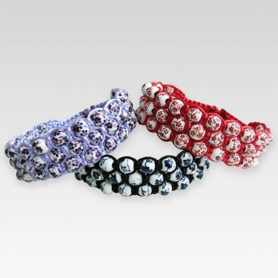 Obrázok pre Náramok Keramika rôzne farby Bracelet with ceramic beads