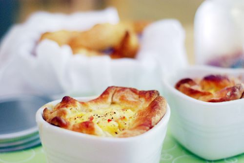 Panera Bread Ham and Swiss Baked Egg Soufflés Recipe on Yummly
