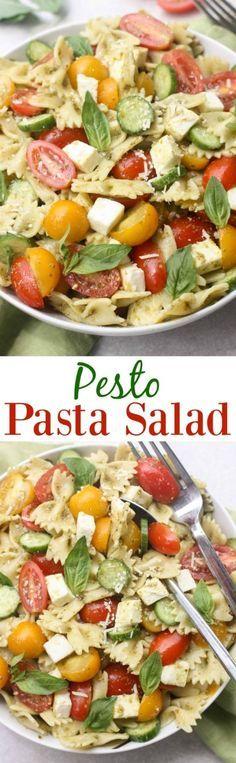 (6) Pesto Pasta Salad | Recipe