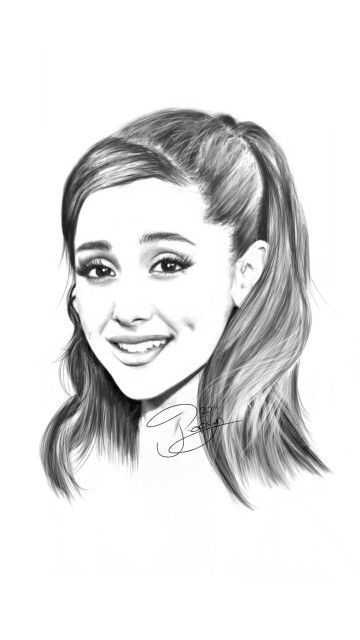 Ariana Grande portrait, done digital with Autodesk