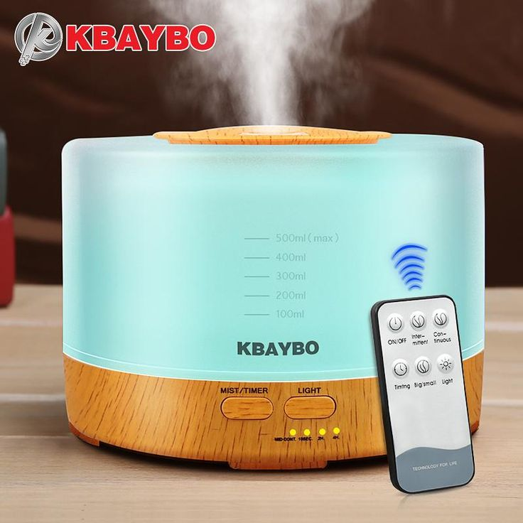 Big Capacity 500ml Essential Oils Diffuser w/Remote Control 4 Timer Settings and 7 Colors LED Lights