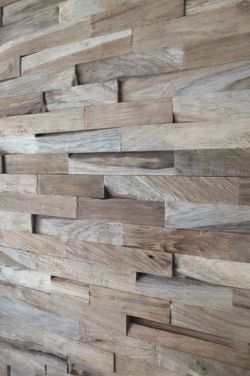 Wooden Split Face Tiles /  Wall Cladding only £ 29.99 per m2