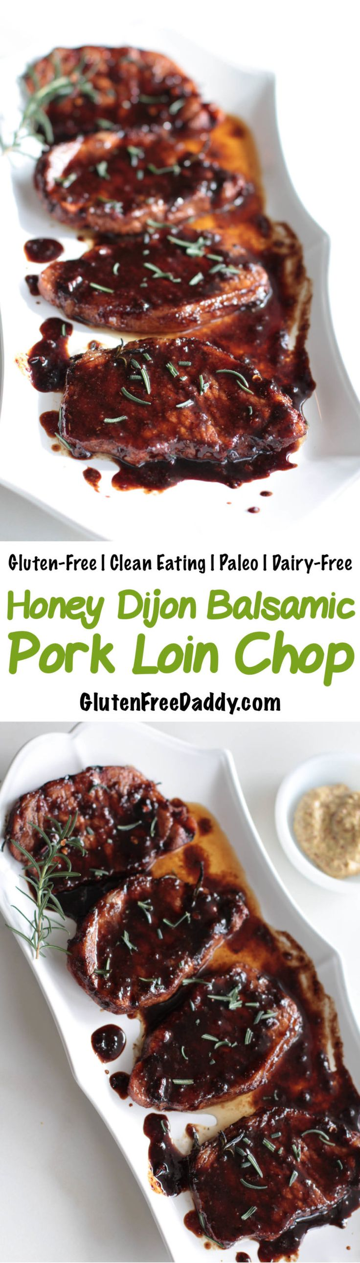 Skinny Honey Dijon Balsamic Pork Loin Chop Recipe